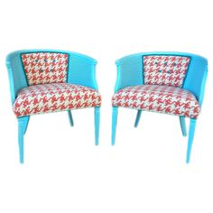 I actually gasped when I saw these. SO FABULOUS! Pair of  Restored Cane Chairs #huntersalley