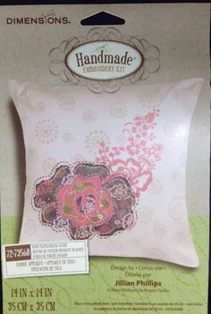 Dimensions Crafts Rose Patch Pillow Cover Fabric Applique Kit Jillian Phillips | eBay