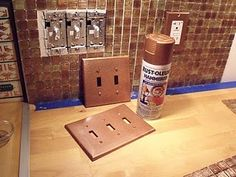 Rustoleum Hammered Copper spray paint - pretty realistic