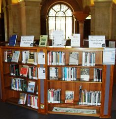 New books display in the Radcliffe Camera