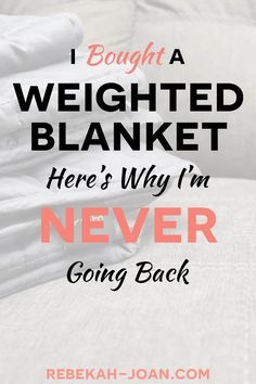 """I Bought a Weighted Blanket for My Anxiety Here's Why I'm Never Going Back - It literally feels like the blanket is giving you a hug, which is super comforting. In my head, I actually call this thing my """"anxiety blanket"""" because it has such a calming effe Get Rid Of Anxiety, Anxiety Help, Overcoming Anxiety, Weighted Blanket For Anxiety, Help Me Fall Asleep, Gravity Blanket, I Quit My Job, Health, Fibromyalgia"""