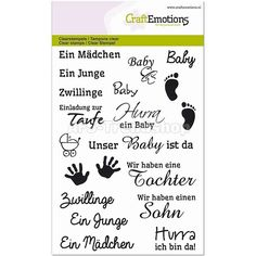 CraftEmotions Clear Stamp A6 - Texte Baby