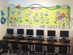Classroom Organization in Pictures-so cute!  I love the bulletin board with garden hose for a border.