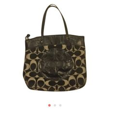Coach Signature Handbag Wonderful fits iPad regular and all of your items authentic Coach Bags Totes