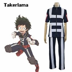Takerlama My Hero Academia Boku no Hero Academia Kohei Horikoshi gym Cosplay Costume Outfits High School Uniform Sportswear Izuku Midoriya Cosplay, Cosplay Outfits, Cosplay Costumes, Anime Cosplay, Boku No Hero Academia, Iida, Full Body Costumes, Costume Wigs, Held