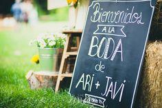 Bodas con detalle - Blog de bodas con ideas para una boda original: Carteles y pizarras de bienvenida para tu boda