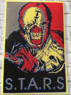 Nemesis from Resident Evil 3: Nemesis Perler Art by TalkNerdytoMePerler