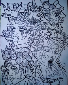 #art #drawing #tattoo #newschool #demon