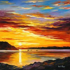 """GOLD EXPANSE — PALETTE KNIFE Oil Painting On Canvas By Leonid Afremov - Size 30""""x30"""" Simple Oil Painting, Acrylic Painting Lessons, Oil Painting Abstract, Painting Techniques, Abstract Art, Painting Classes, Watercolor Artists, Painting Tutorials, Watercolor Painting"""