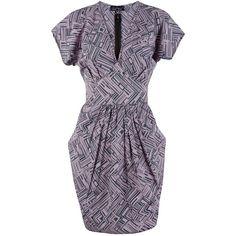 Closet Grown On Sleeve Dress, Purple (£38) ❤ liked on Polyvore featuring dresses, v neck dress, purple maxi dress, v-neck maxi dresses, mini dress and floor length dresses