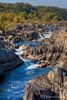 Great Falls- Potomac River, which divides Maryland and Virginia.  It looks as if the photo was taken from the Maryland side. (USA)