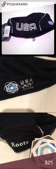Roots 2006 Olympic hat Roots authentic fleece navy blue hat with elastic closure to fit any size. Roots Accessories Hats