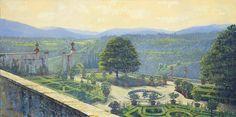 Francis Hamel. Villa Corsini Garden, at Mezzomonte