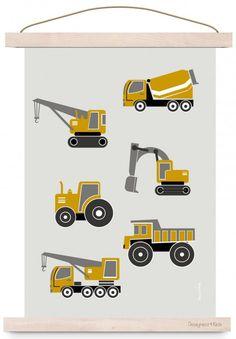 Poster kinderkamer voertuigen | Posters | De Kleine Auto