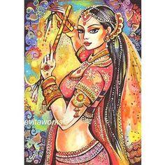 Indian Dancer, Bollywood, Magic of Dance, Girls Room Decor, Indian Painting, Dancing Girl, Beautiful Dance Art Print