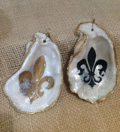 Fleur de lis Ornaments by NOLAOysterArt on Etsy