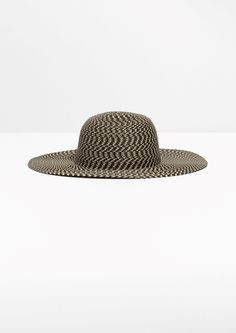f14010081a9ea Other Stories image 1 of Wide Brim Straw Hat in Black Hat Making
