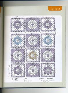 Free Crochet Square, Granny Square Crochet Pattern, Crochet Chart, Crochet Squares, Crochet Stitches, Crochet Patterns, Crochet Ideas, Motifs Granny Square, Granny Squares