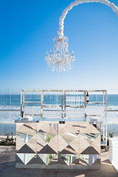 Barbara Seaside Glamour Wedding by Engaged Events Mirrored bar on La Pacifica Terrace Wedding Events, Wedding Reception, Reception Ideas, Wedding Lounge, Wedding Ideas, Diy Wedding, Wedding Inspiration, Glamorous Wedding, Dream Wedding