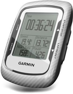 This GPS bike computer rocks on the mountain bike. After your ride it shows you your ride stats (speed, elevation, heartbeat, etc) and a map of your ride.  Garmin Edge 500 Wireless Bike Computer.