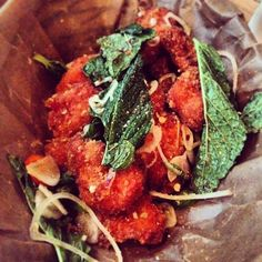 Day #355 - Thai fried chicken from @wishbonebrixton with tamarind dressing, mint, chilli & shallots