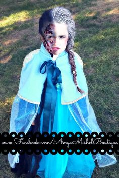 #zombieelsa from @amyamishel www.facebook.com/amyamishelboutique. zombie elsa. Home made costume