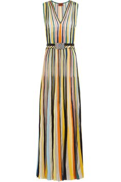 #Valentines #AdoreWe #STYLEBOP.com (FR/NL/IT) - #Missoni Missoni Striped Knit Dress - AdoreWe.com