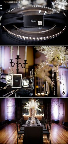 Chic Black and White Wedding Styled Shoot in Colorado black-and-white-glam-hotel-style-shoot-colorado-5 – WeddingWire: The Blog