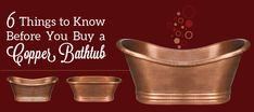 Great article on 6 Things to Know Before You Buy a Copper Bathtub - Kitchen Bath Trends Things To Know, How To Know, Copper Bathtub, Lauderdale By The Sea, Bath Trends, Splish Splash, Rustic Lighting, Bathtubs, Kitchen And Bath