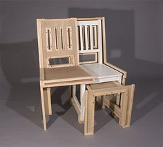 Crate Chair, 2007  wood, latex paint, wax  37 x 20 x 22 inches