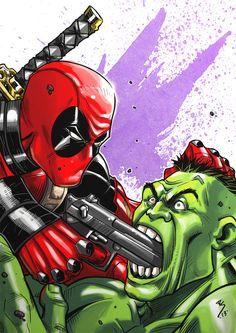 #Hulk #Fan #Art. (Deadpool vs Hulk colors) By: Ruihq.