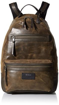 John Varvatos Star USA Mens Brooklyn Zip Backpack Olive One Size ** Click on the image for additional details. This is an Amazon Affiliate links.