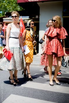 The Russian fash-pack, Vika Gazinskaya, Miroslava, Elena Perminova and Uliana Sergienko on the way to Christian Dior couture show.