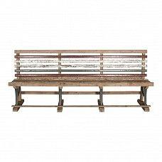 Distressed reclaimed pine park bench - Trade Secret