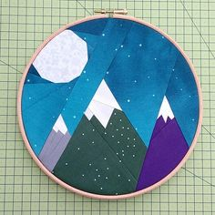 Mountain sun and moon paper piecing pattern Etive & Co Paper Piecing Patterns, Pattern Paper, Quilt Patterns, Quilting Ideas, Twilight, As You Like, Just For You, Foundation Paper Piecing, Barn Quilts