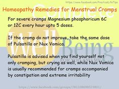 Practical Life Tips For You And Me: #Homeopathy #Remedies for #Menstrual #Cramps