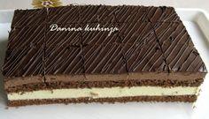 Řezy čokoládové, nugátové