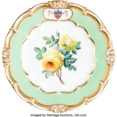 Political:Presidential Relics, James K. Polk: White House Dessert Plate....