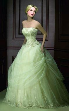green ballgown