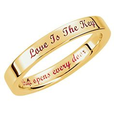 "'Love is the Key' 3mm Comfort Fit Band 14k Yellow Gold, Size 8 http://www.easterdepot.com/love-is-the-key-3mm-comfort-fit-band-14k-yellow-gold-size-8/ #easter  ""When the power of love overcomes the love of power, the world will know peace."" -Jimi Hendrix ""Love is the key that opens every door."" -Designer Andy Cain Love is the Key® started with a simple idea: that Love is the Key® that would open all doors in life. This idea inspired designer Andy Cain to create the Love is the Key®.."