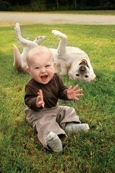 赤ちゃんとワンちゃんの、仲良し写真に癒される!画像15枚