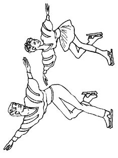 This printable figure skating coloring sheet activity of an adult pairs team is a fantastic option for youngsters who are figure skating fans. Tokyo Olympics, Adult Coloring Pages, Figure Skating, Kids Learning, Skate, Crafts For Kids, Sporty, Pairs, Activities