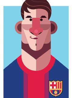 Ilustración de Messi hecha por Daniel Nyari