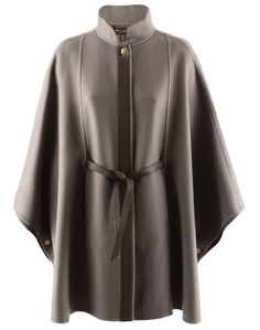 Loro Piana Taupe Cashmere Cape Vendome