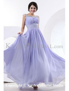 Chiffon and Satin Bateau Neckline Floor Length Sheath Cocktail Dress with Crystals