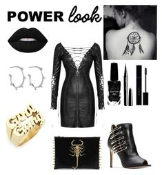 """""""black power look"""" by aniadratwicka on Polyvore featuring Rachel Jackson, Melody Ehsani, Azature, Lime Crime, Gucci, girlpower and powerlook"""