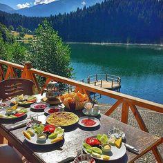 Turkish Breakfast ....Karagol Nature Park - Artvin ,Borçka ,Karagol,Turkey