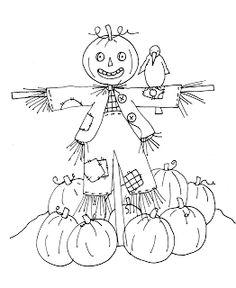 Free Dearie Dolls Digi Stamps: Friendly Scarecrow