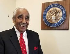 """In this Dec. 19, 2016 photo, U.S. Rep. Charles Rangel, D-NY, smiles in his New York office in Harlem after an interview with The Associated Press. Rangel thought he would be wrapping up his 46-year career in Congress on a note of triumph, leaving office at the same time as a history-making fellow Democrat, President Barack Obama, with the country in the hands of longtime friend Hillary Clinton. Instead, he said he is exiting to """"a nightmare,"""" the ascendancy of Donald Trump. (AP Photo/Deepti…"""