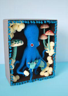 Blue Octopus Box by Hine Mizushima